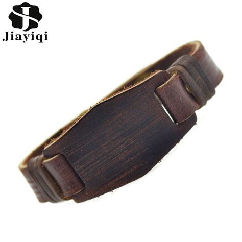 Handmade Mens Leather Cuff Bracelets - image handmade leather cuff bracelets