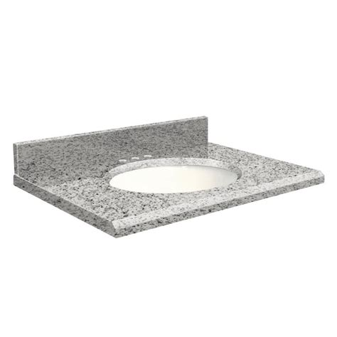 granite undermount bathroom sink shop transolid rosselin white granite undermount single