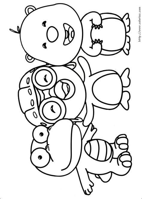 COLORIAGE Crong Pororo Et Loopy