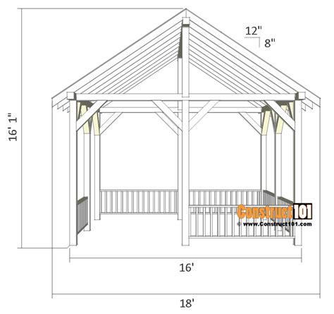 pavilion design plans plans diy free download playhouse pavilion plans 14x16 diy free outdoor projects construct101