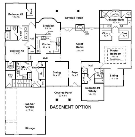 ranch house floor plans with basement 2018 house plans