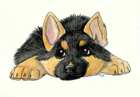 german shepherd puppy drawing sweet german shepherd puppy adorable kid drawings glorious german
