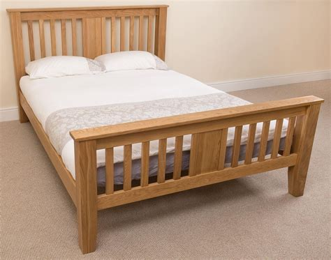 Boston Store Mattress by Boston 5ft King Size Solid Oak Bed With 10 Quot Memory Foam