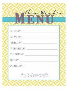 Free printable menu smitten blog designs