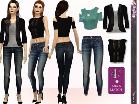sims 4 clothing for females sims 4 updates clothing street fashion mix match set by simsimay from