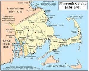 what is the plymouth bay colony pilgrims settlers history