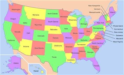small map of the united states maps of usa all free a small map the united