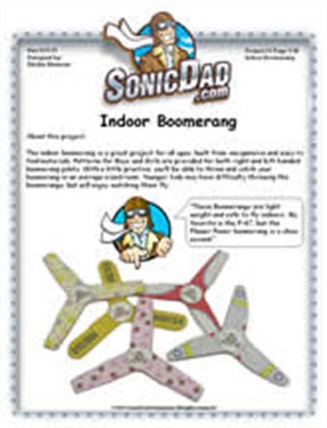 Indoor Boomerang Sonicdad Micro Boomerang Template