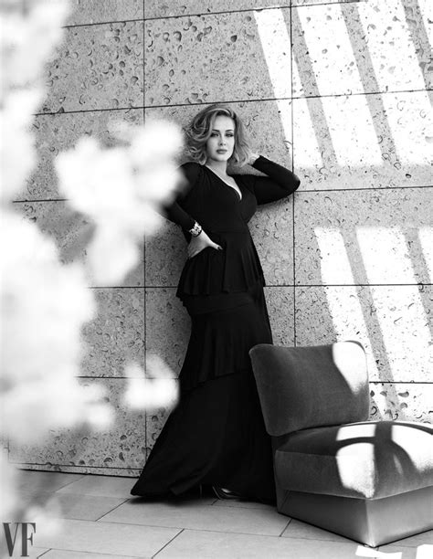 Vanity Fair Cover Shoot by Adele Poses In The Chicest Looks For Vanity Fair Feature