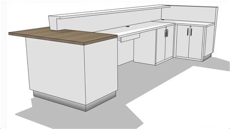 ada reception desk height kirigami reception desk custom reception desk arnold