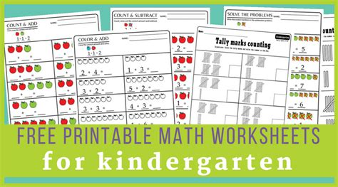 15 kindergarten math worksheets pdf files to download for