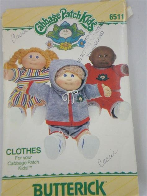 vintage 1980s cabbage patch doll clothes by patternsandcrafts