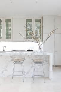 kitchen white marble island just decorate
