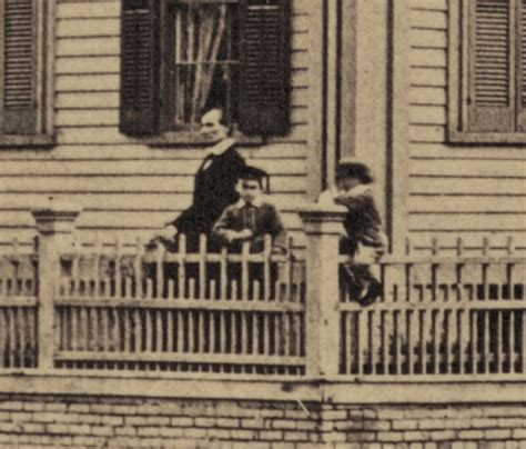 abraham lincoln at his home 1860 springfield illinois