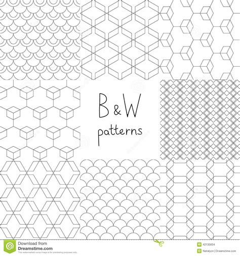 simple geometric pattern vector abstract black and white simple geometric seamless