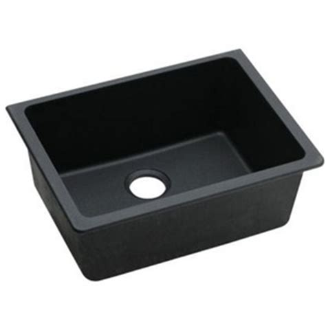Ferguson Kitchen Sinks Eelgu2522bk0 Quartz Classic White Color Undermount Single Bowl Kitchen Sink Black At Shop