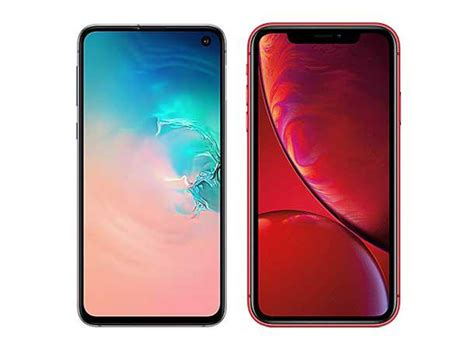 to samsung galaxy s10e vs apple iphone xr