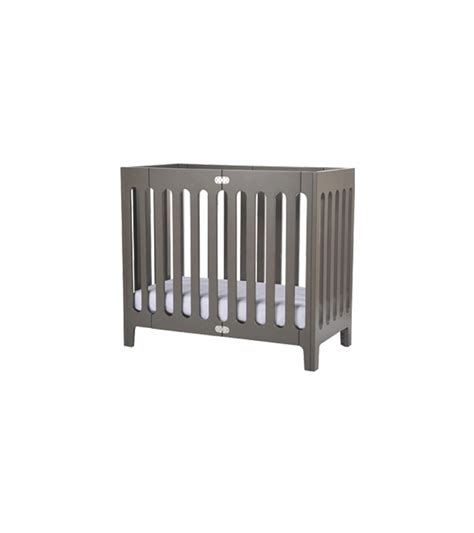Bloom Alma Mini Urban Crib In Frost Grey Alma Mini Crib