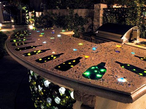 Outdoor Bar Tops by Lighted Countertop Outdoor Kitchens The Green