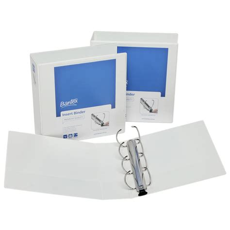 Bantex Insert Ring Binder 8562 A4 2 Ring D Mechanism 65mm bantex a4 4 d ring 65mm push lever insert binder white officeworks