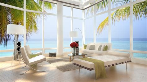 Beach Home Decorating Ideas Living Room Modern Bar Design With Open Flooring View Full