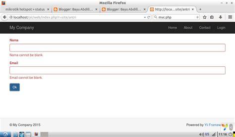 abdul kadir membuat aplikasi web dengan php dan database mysql bayu abdillah dasar yii2 menggunakan form