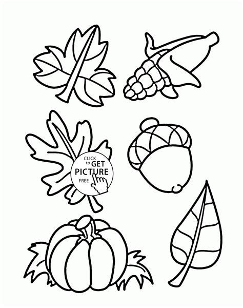 fall things coloring pages for kids autumn printables