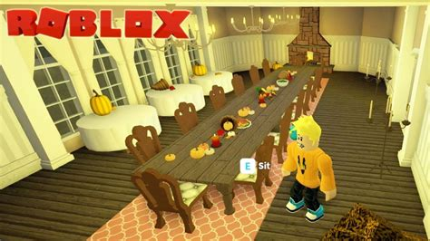 thanksgiving day dining room build  bloxburg roblox