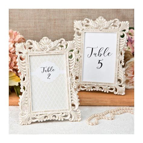ivory table number frames set of 2 size from tea and becky - Bridal Shower Favors Picture Frames