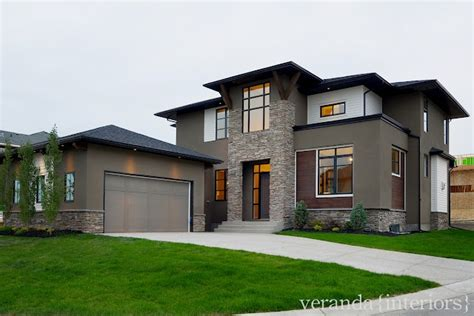 wood grey brown stucco black touches exterior colors on the side grey