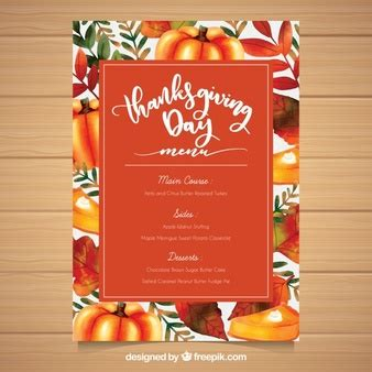 Thanksgiving Vectors Photos And Psd Files Free Download Menu Template For Thanksgiving