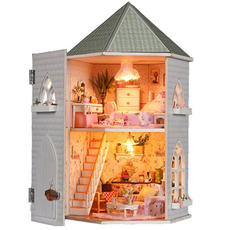 buy doll house aliexpress com buy dollhouse diy kit toys for children wooden miniature doll house furnitures