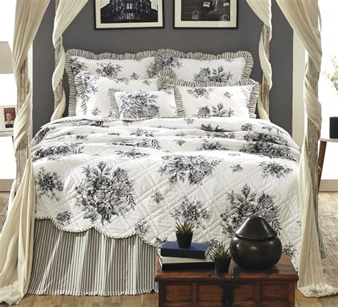 black toile bedding black toile josephine quilt