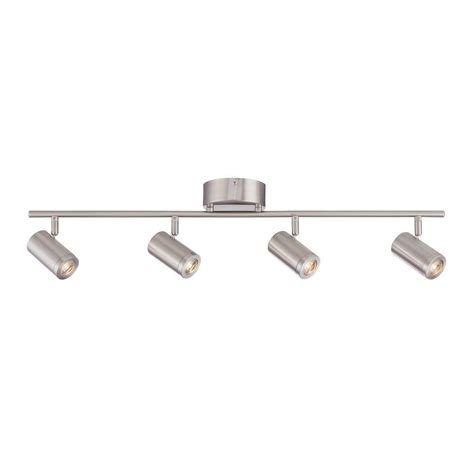 led track lighting envirolite 3 ft led brushed nickel track lighting kit