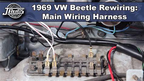 jbugs  vw beetle rewiring main wiring harness youtube