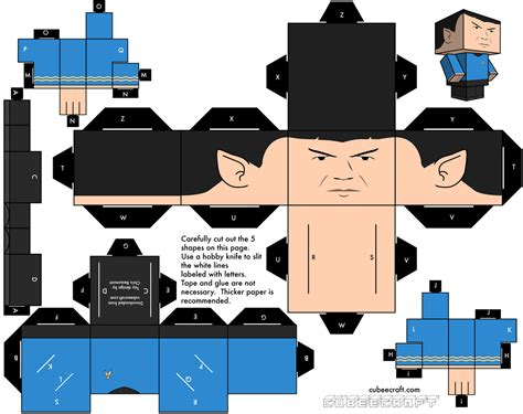 Papercraft Characters - cubeecraft on paper toys papercraft and