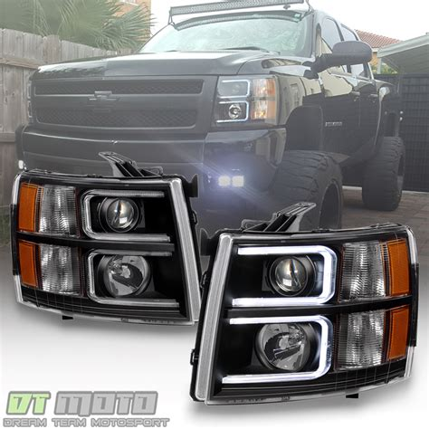 2010 chevy silverado lights black 2007 2013 chevy silverado optic led projector