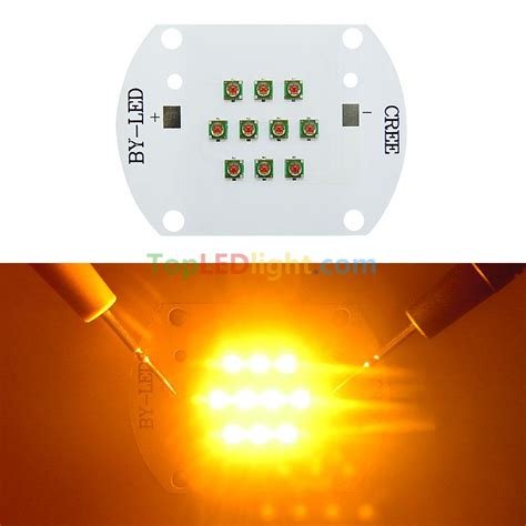 high power led lens 30w cree xl xpe led emitter yellow