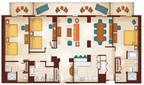 3 bedroom villa disney world grand californian suites floor plan joy studio design