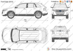 Ford Edge Length The Blueprints Vector Drawing Ford Edge