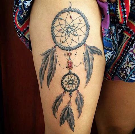 Dream Catcher Knee Tattoo | 50 gorgeous dreamcatcher tattoos done right tattooblend