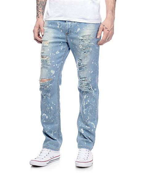 light ripped jeans blue ripped jeans men mx jeans
