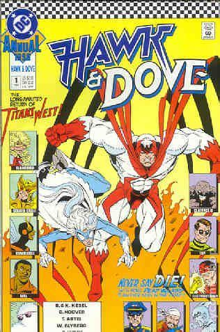 hawk and dove comic books hawk and dove 1989 annual comic books