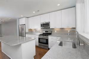 white kitchen cabinets subway tile backsplash home