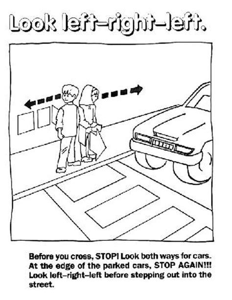 preschool traffic safety coloring pages coloring pages