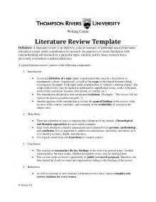 Literature Review Template Doc by Literature Review Template30564