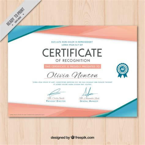 modern certificate vector free download