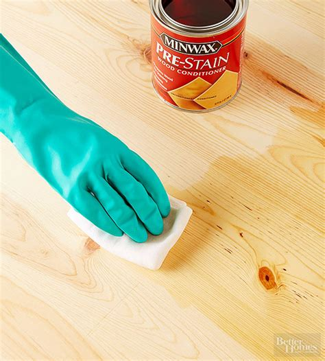 how to stain a table how to stain and stencil a table better homes gardens