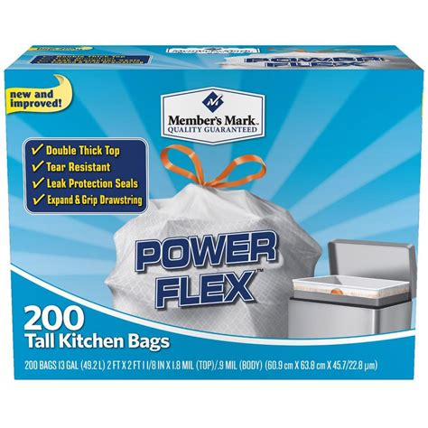 How Many Gallons Is A Kitchen Bags by 200 Trash Garbage Tie Drawstring Kitchen Bags 13