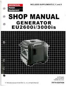 Honda Eu3000is Manual Honda Eu2600i And Eu3000is Generator Shop Manual 1